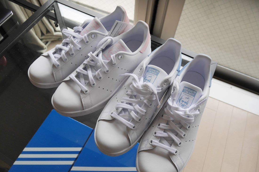 stansmith,addidas,pink,blue